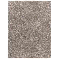 Contemporary Handwoven Grey Textured Wool Rug