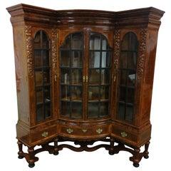 Walnut Corner Bookcase, Laquer after Renovation