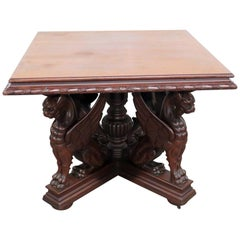 Winged Griffin Center Table Attributed to Horner