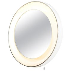 Midcentury Lightolier Lighted Wall Vanity Mirror