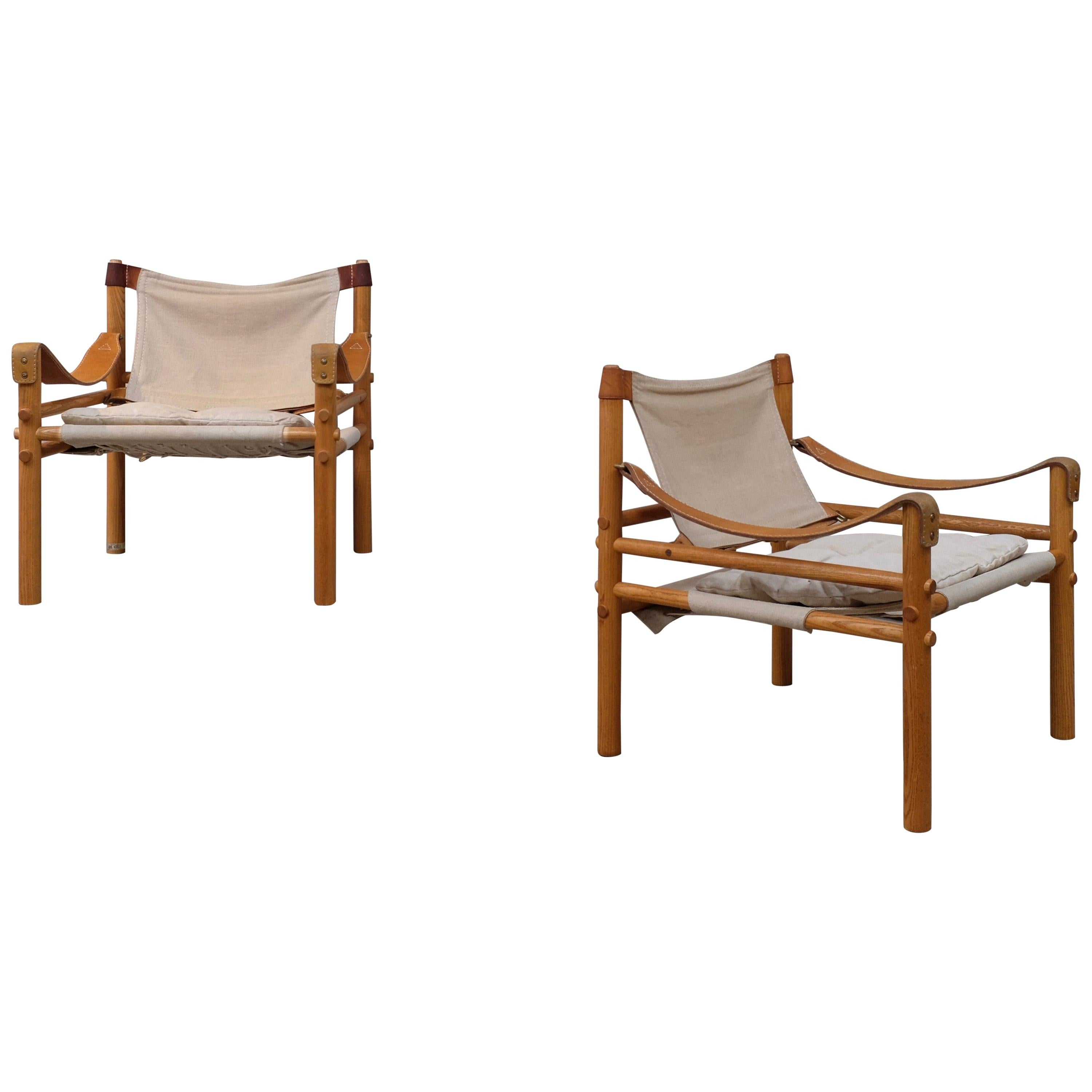 Pair of Arne Norell Sirocco Easy Chairs, 1960s