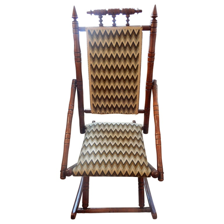 Antique Bamboo Rocker in the George Hunzinger Style For Sale