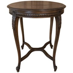 Antique Country French Round Centre Table
