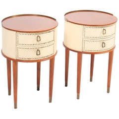 Pair of Swedish Midcentury Nightstands Designed by Halvdan Petterson