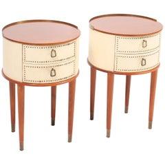 Pair of Swedish Midcentury Nightstands Designed by Halvdan Petterson