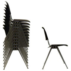 10 Stacking Chairs by Don Albinson for Knoll International