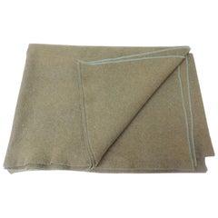 Large Vintage Army Wool Camping Blanket