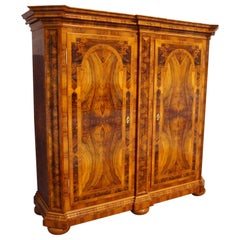 Neo Baroque Walnut Wardrobe from 1900 .