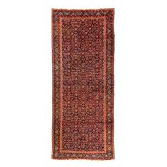 Antique Northwest Persian Bakshaish Hand Knotted Wool Runner