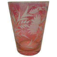 Vintage Cameo Pink Flower Vase