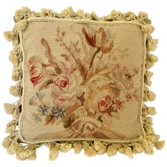 French Provincial Aubusson Style Throw Pillow