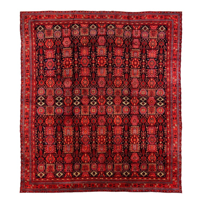 Deep Burgundy Indian Agra Rug For Sale At 1stdibs: Antique Indian Agra Vegetal And Cochineal Dyed Wool For