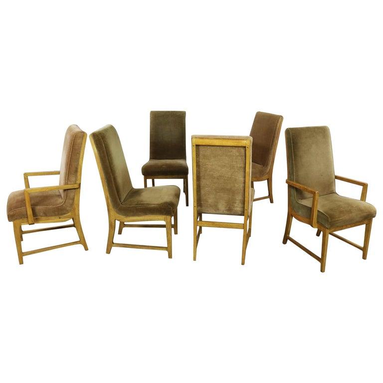 Outstanding 6 Modern Style Vintage Dining Chairs Velvet Scoop Seats Bernhardt Flair Hibriten Alphanode Cool Chair Designs And Ideas Alphanodeonline