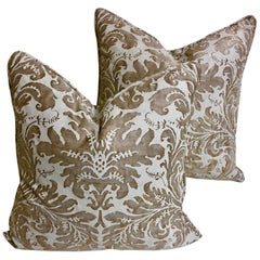 "Pair of Fortuny Down-Filled Cushions in the ""LUCREZIA"" pattern"