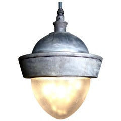 Vintage Oversized Cast Aluminium Pendant Lights