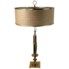 Mid Century Cattail Table Lamp