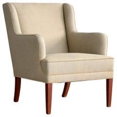 Frits Henningsen Lounge Chair, Denmark, circa 1950