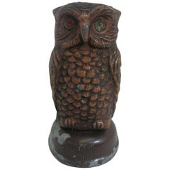 Copper Tone Owl Sculptural Timer