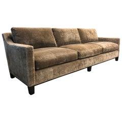 Cameron Collection Lower Park Avenue Velvet Sofa