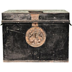 Antique Milners 212 Fire Safe or Strong Box, England, circa 1870