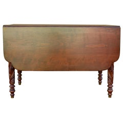Acanthus Carved Drop Leaf Table, circa 1840