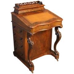 Victorian Burr Walnut Davenport Desk