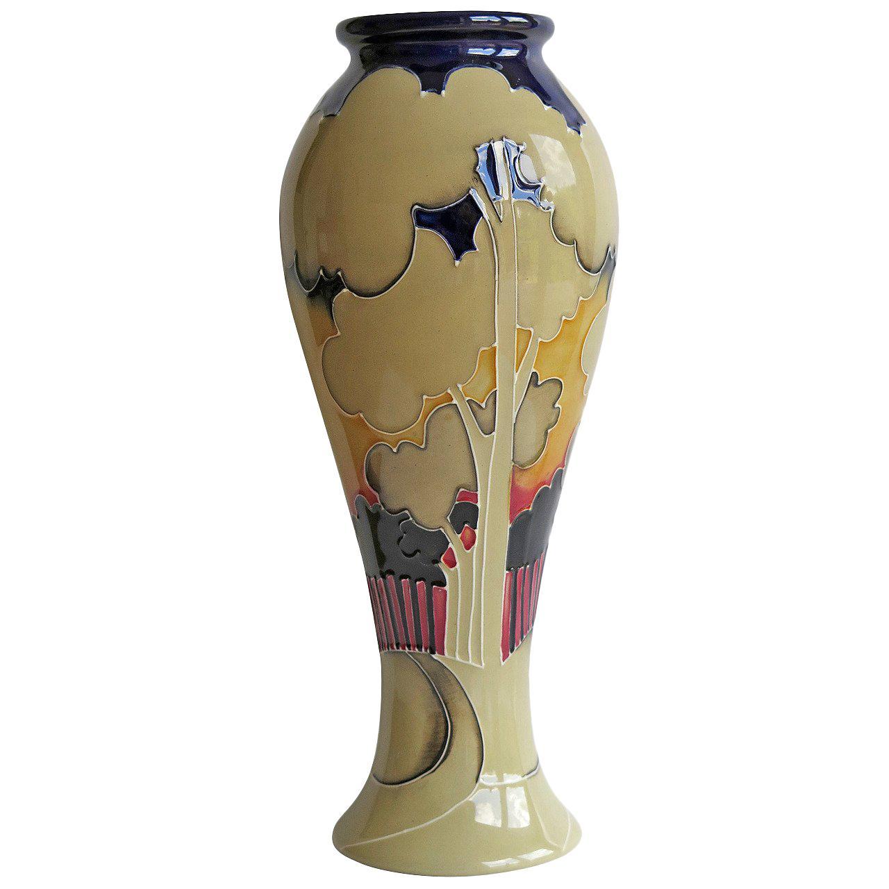 Moorcroft Pottery Vase by Vicky Lovatt Eventide Winter Limited Edition, 2013