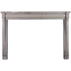 19th Century French Classic Antique Stone Fireplace Surround