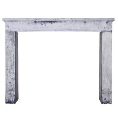 17th Century French Country Antique Limestone Fireplace Surround