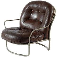 Carlo de Carli for Cinova Mid Century 915  Armchairs Original Leather Italy 1969