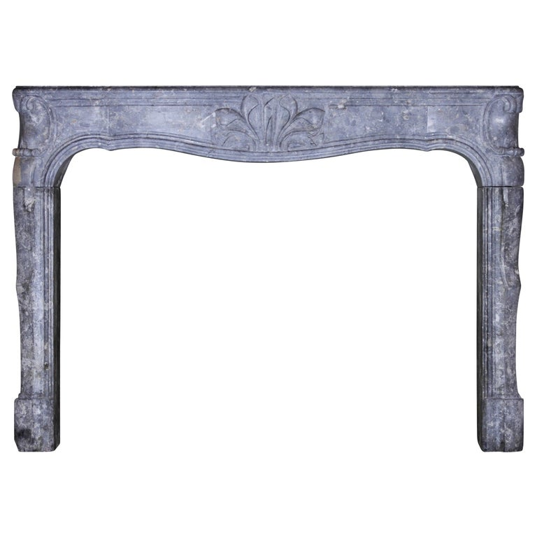 Fine 18th Century French Antique Fireplace Surround in Bicolor Burgundy Stone For Sale