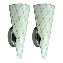 Pair of Murano Midcentury Glass Sconces