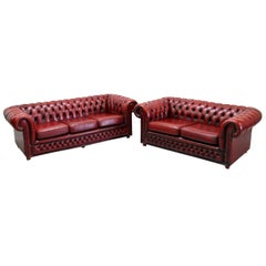 Chesterfield Sofa Garnitur Ledergarnitu Couch Antik 2-Seat 3-Seat, English
