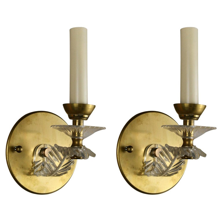 Pair of Midcentury Sconces For Sale