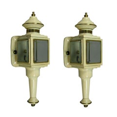Pair of Enameled Carriage Sconces