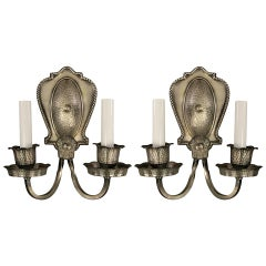 Pair of Double Arm Sconce, circa 1920s
