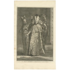 Antique Portrait of the Great Lord on the Day of Bayram by Picart, circa 1725