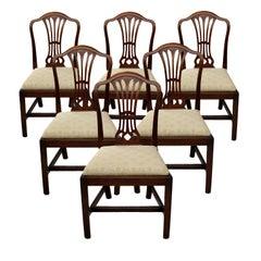 Set of Six George III Hepplewhite Style Mahogany Dining Chairs, circa 1780