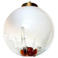 Organic Ball Light Fixture by Mazzega Italy Ceiling Pendant