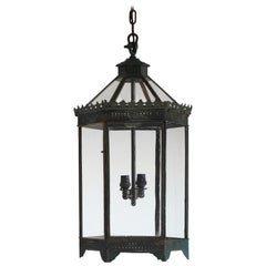 19th Century English Country House Toleware Lantern