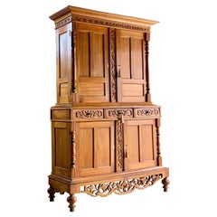 Antique French Housekeepers Cupboard Satinwood 19th Century, circa 1880