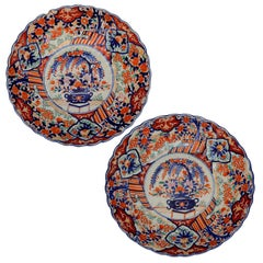 Pair of Early 19th Century Imari Arita Chargers, circa 1820