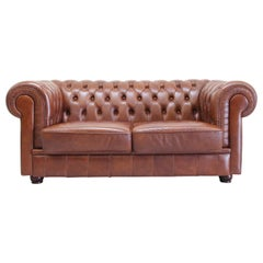 Chesterfield Sofa Leather Antique Chippendale Vintage Couch English
