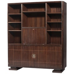 Dominique, Rosewood Cabinet with Open Compartments, circa 1949