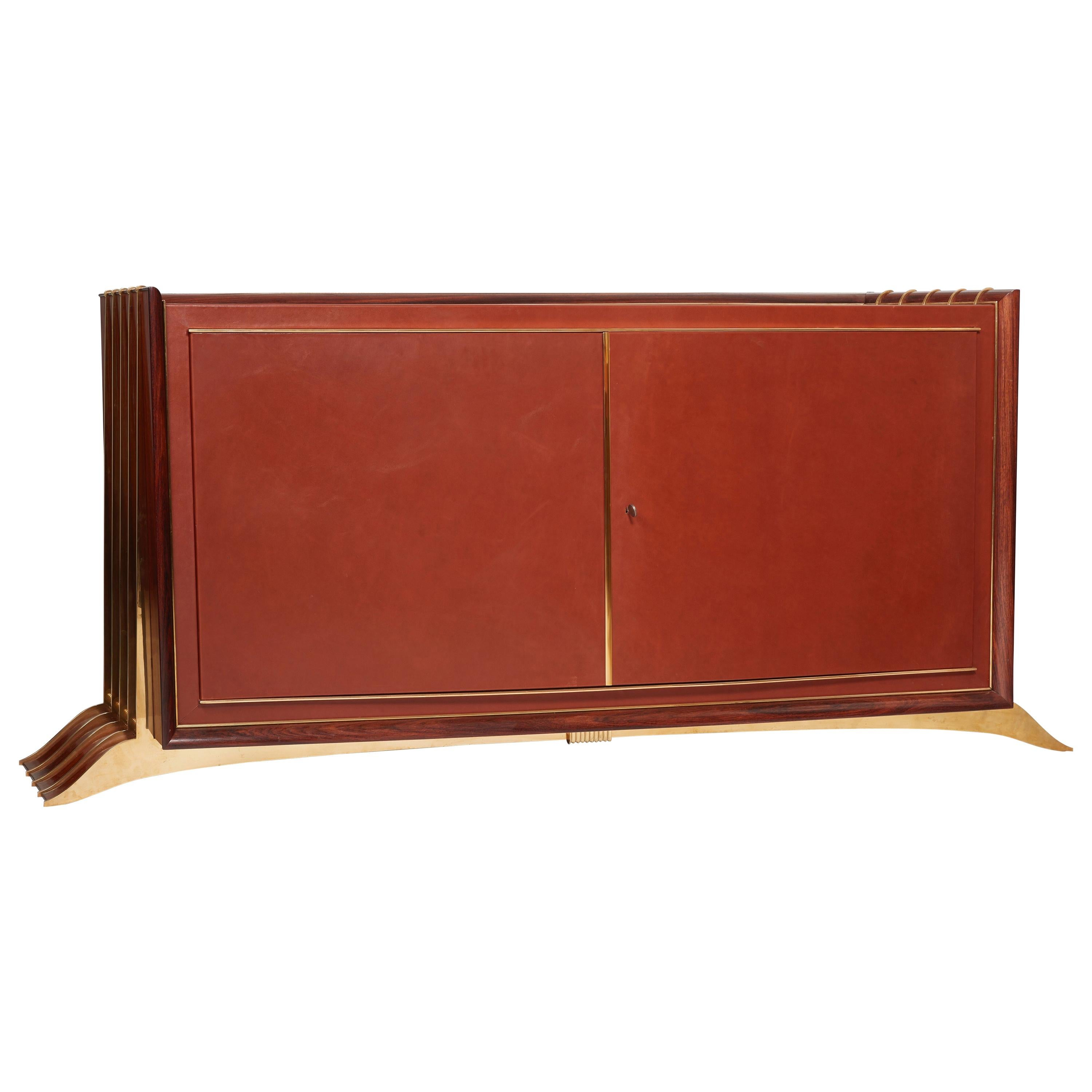Maurice and Léon Jallot, Mahogany Cabinet Opening by Two Doors, circa 1936