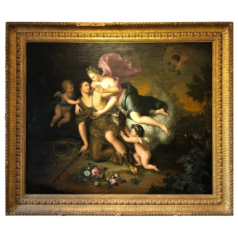 Old Master Oil on Canvas by Willem Van Mieris 'Netherlands circa 1700' For Sale