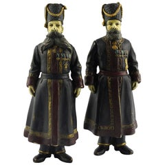 Pair of Cold-Painted Bronze Figures of the Kamer-Kazaks after Fabergé