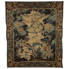 French Verdure Tapestry in the Aubusson Style