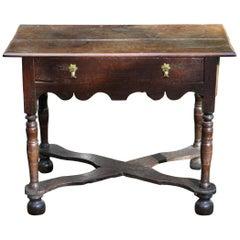 Original English Jacobean Oak Side Table