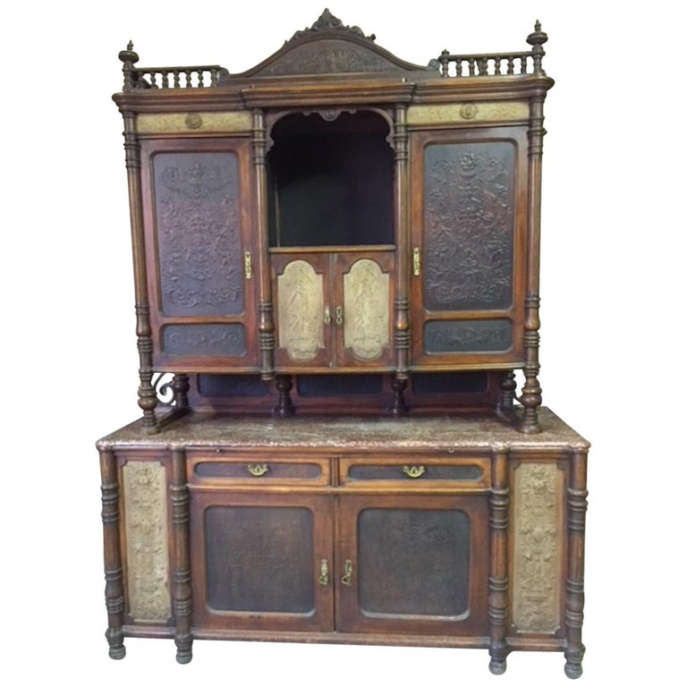 Late 19th Century Brasserie Buffet Signed Jacob Josef Kohn, 1890s For Sale